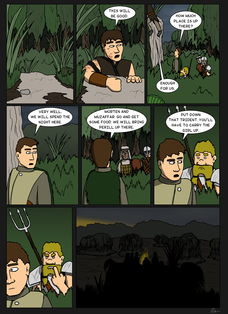 Page 113 – Finding a good spot for the night