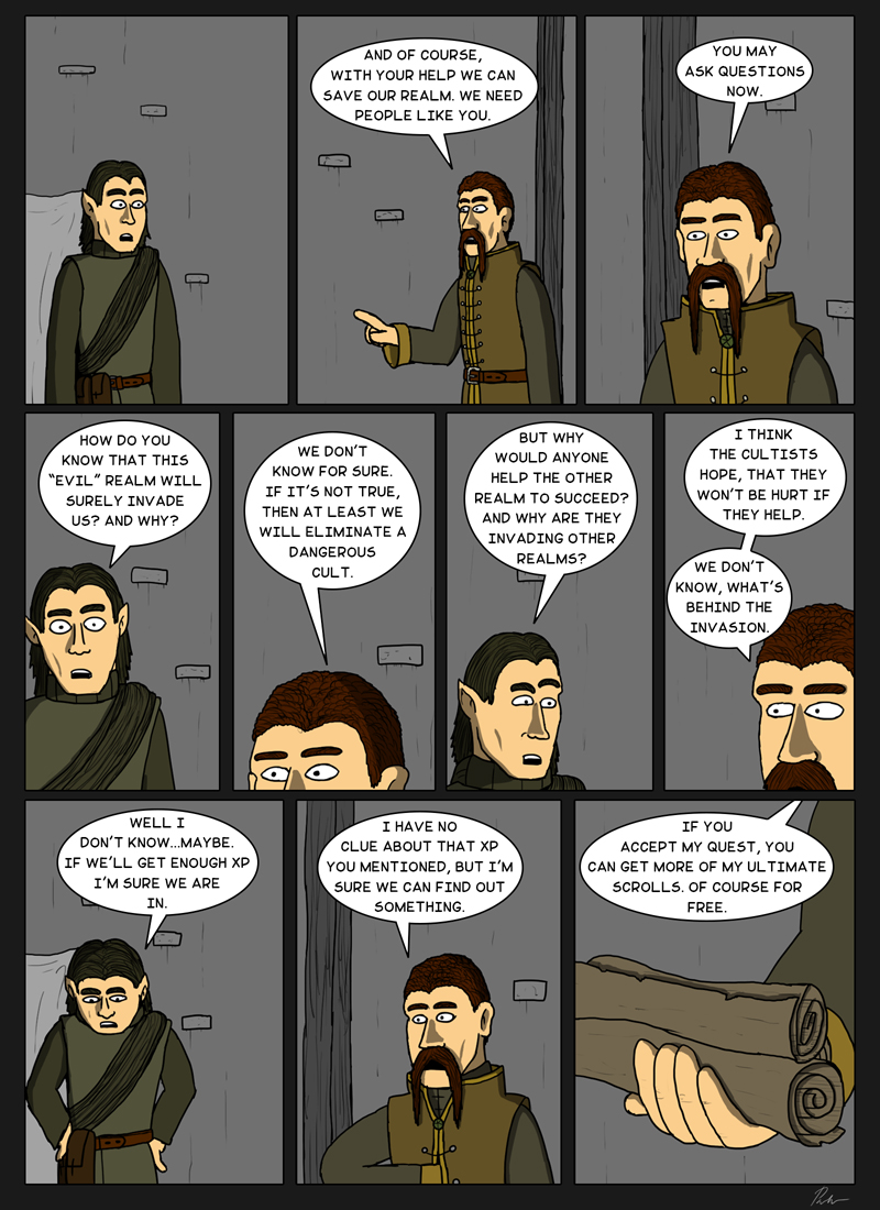 Page 135 – Accepting the quest for XP