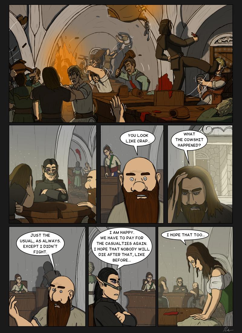 Page 174 – Tavern brawl and hangover