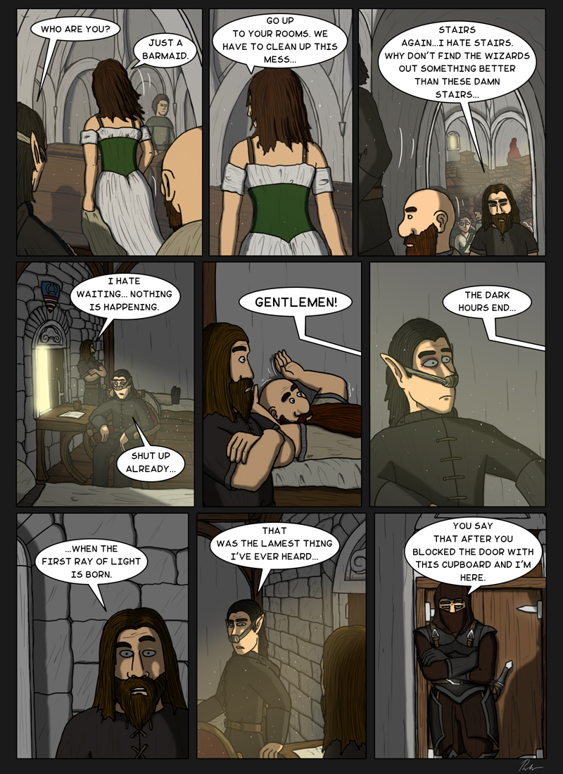 Page 175 – The dark hours end…