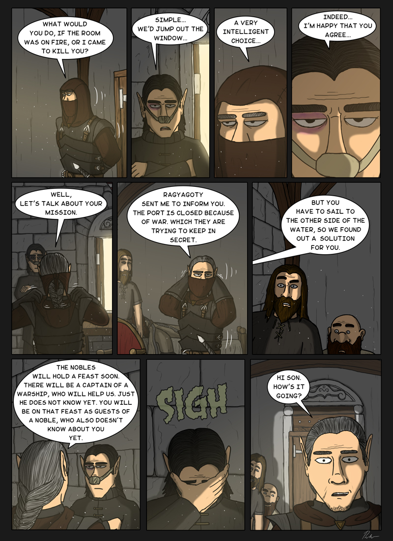Page 176 – A father appears