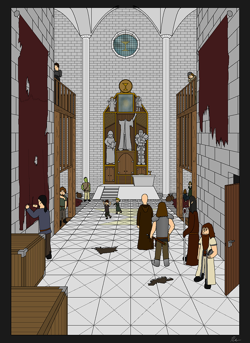 Ch2P23 – Inside the church