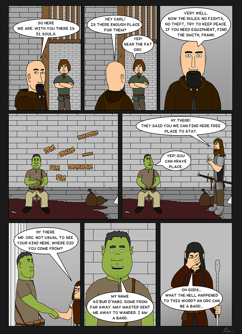 Page 44 – A fat orc appears