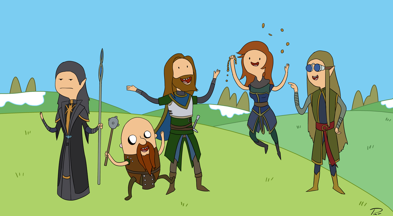 TFS in different style – Adventure Time